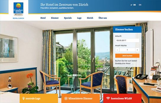 Comfort Hotel Royal: Kunde Webdesign