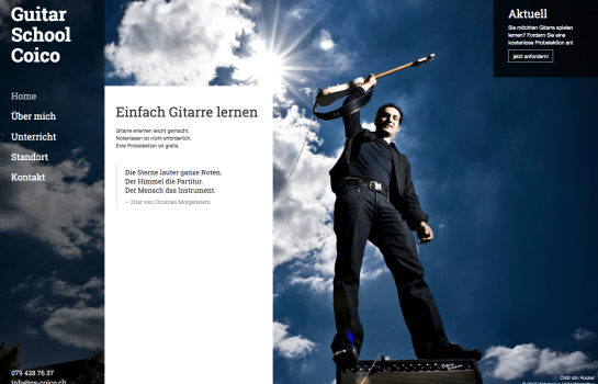 Guitar School Coico: Kunde Webdesign