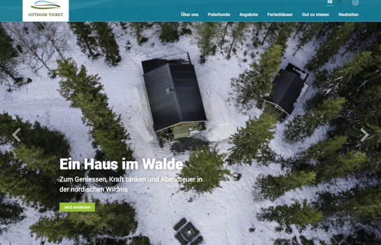 Outdoor Ticket: Kunde Webdesign